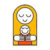 Векторный клипарт: день матери шаблон