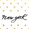 Векторный клипарт: Новый текст йорк любовь