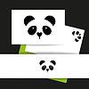 Векторный клипарт: шаблон медведь панда