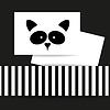 Векторный клипарт: Шаблон животного енота