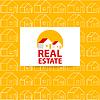 Векторный клипарт: недвижимости идентичность логотипа