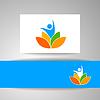 Векторный клипарт: йога шаблон LOTOS логотип