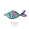 Vektor Cliparts: Fisch unter Wasser