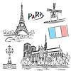 Paris Sehenswürdigkeiten | Stock Photo