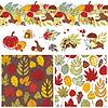 Herbst Muster und Elemente