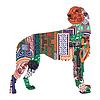 Silhouette eines Hundes mit den irischen Entwürfe