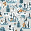 Seamless winter pattern | Stock Vector Graphics
