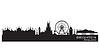 Brighton England Skyline. Detaillierte Silhouette | Stock Vektrografik