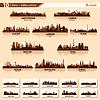Skyline der Stadt auf 10 Silhouetten von Europa