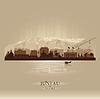 Векторный клипарт: Джуно на Аляске горизонты города силуэт