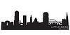 Векторный клипарт: Литл-Рок Арканзас горизонты города силуэт
