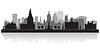 Vektor Cliparts: Hartford Connecticut Skyline der Stadt-Silhouette