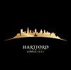 Vektor Cliparts: Hartford Connecticut Stadt Silhouette schwarz