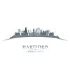 Vektor Cliparts: Hartford Connecticut Stadtsilhouette weiß