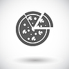 Pizza flach icon