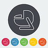 Autokindersitz flach icon