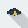 Sturm Flach Symbol
