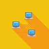 Computer-Netzwerk einzelnes Symbol