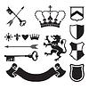 Heraldic Silhouetten für Zeichen und Symbole