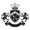 Wappen - Schild mit Krone, Schlüssel und Pfeil, tw
