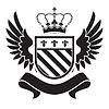 Wappen - Schild mit Krone, Fleur-de-lis,