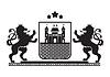 Wappen - Schild mit Festung, Ziegelmauer