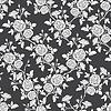 Векторный клипарт: бесшовные модели - романтическая черно-белые розы