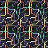 Colorful U-Bahn-Schema Hintergrund. abstrakter
