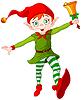 Christmas Elf Springen