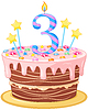 Векторный клипарт: торт ко дню рождения