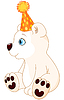 Eisbär feiern