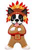 Native American Boston Terrier