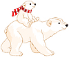 Eisbär Mama und Baby