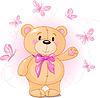Векторный клипарт: плюшевый медведь