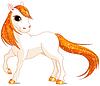 Векторный клипарт: Красивая лошадка