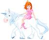 Prinzessin auf Unicorn