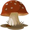 Векторный клипарт: Волшебный гриб