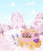 Векторный клипарт: Принцесса Carriage Назад к Королевство