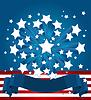 Amerikanischer Hintergrund von Sternen
