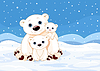 Eisbär-Familie
