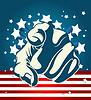 Amerikanische Starburst Forefinger