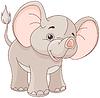 Baby Elephant | Stock Vector Graphics