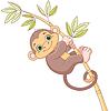 Baby Monkey | Stock Vector Graphics