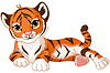 Baby Tiger | Stock Vector Graphics