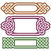 Vektor celtic Frame-Set isoliert auf weißem Hintergrund