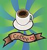 Векторный клипарт: Векторный набор визитных карточек на кофе