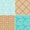 Vektor Cliparts: Seamless Patterns Set