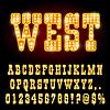 Векторный клипарт: Западная Ночь шрифта