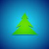 Векторный клипарт: Карта, Рождественская елка