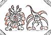 kritzeleien Fantasie Monster Persönlichkeit